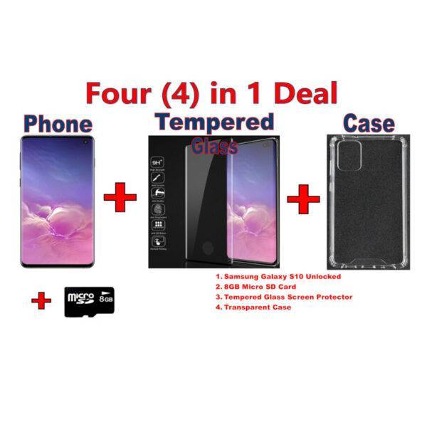 Samsung Galaxy S10 Unlocked with Free Screen Protector, Case and Memory Card  New Arrivals