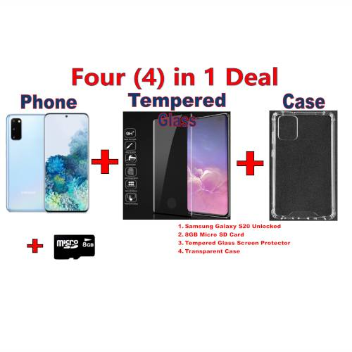 Samsung Galaxy S20 5G with Free Screen Protector, Case and Memory Card  Phones & Tablets Phones Phones