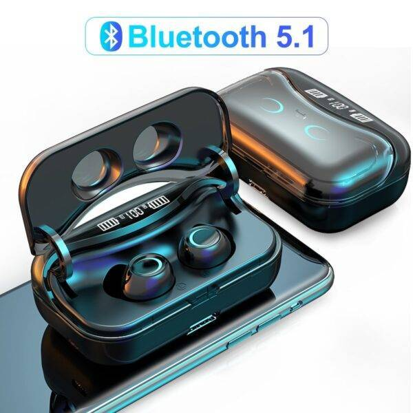 Bluetooth 5.1 Earphone Touch Control Wireless Headphones HiFi with LED Display Charging Box  Electronics Phones & Tablets Phones Phone Accessories