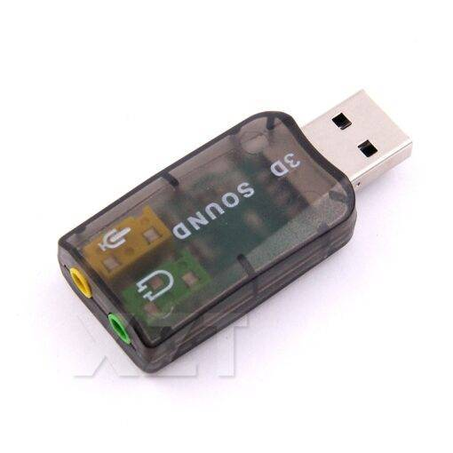 USB to 3D Audio USB External Sound Card Adapter 5.1  Computer Accessories Free Shipping