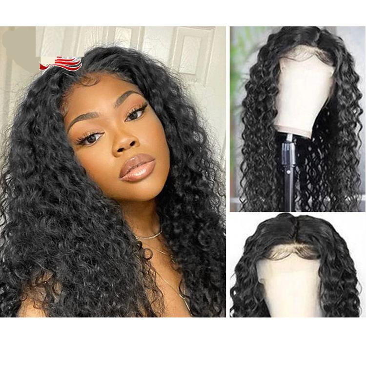 HD Transparent Lace Front Wet And Wavy Water Wave Wigs Remy Human Hair Wigs